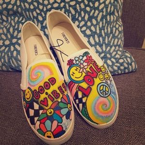 """Hand painted sneakers """"Good Vibes"""""""